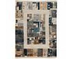 benuta Alfombra Gabbeh Azul 100x200 cm - Alfombra oriental / clasica