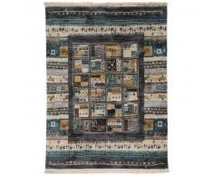 benuta Alfombra Gabbeh Azul 160x230 cm - Alfombra oriental / clasica