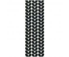 Brita Sweden Plástico Alfombra de pasillo tejido plano Karin Negro 70x250 cm