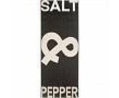 benuta Alfombra de cocina Salt & Pepper Blanco y Negro 80x200 cm - Alfombra fácil de limpiar