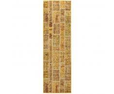 benuta Alfombra pelo corto de pasillo Casa Amarillo 70x240 cm - Alfombra diseño moderno para salon