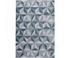 Alfombra de tejido plano Frencie Azul/Gris 160x235 cm - Alfombra lisa para cocina, corredor y pasillo - fácil de limpiar