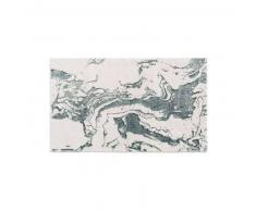 benuta Alfombrilla de baño Luis Beige/Turquesa 70x120 cm - Alfombra para cuarto de baño