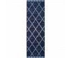 benuta Alfombra de pasillo exterior Vora Azul 80x150 cm - Alfombra para terraza, balcón y jardin