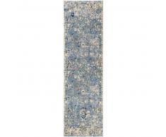 Alfombra pelo corto de pasillo Cedar Azul 70x240 cm - Alfombra diseño moderno para salon