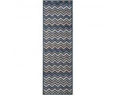 Alfombra pelo corto de pasillo Woody Azul 67x210 cm - Alfombra diseño moderno para salon
