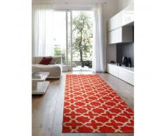 benuta Alfombra pelo corto de pasillo Arabesque Naranja 80x240 cm - Alfombra diseño moderno para salon