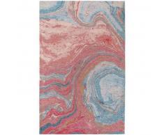 benuta Alfombra de tejido plano Stay Rosa 115x180 cm - Alfombra lisa para cocina, corredor y pasillo - fácil de limpiar