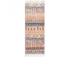 Alfombra pelo corto de pasillo Bahar Multicolor 80x300 cm - Alfombra diseño moderno para salon