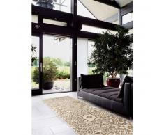 Benuta Alfombra de pasillo Patchwork-Mosaico Blanco 80x290 cm
