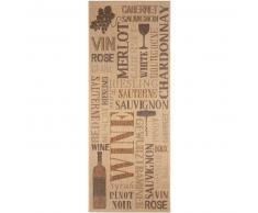 Benuta Alfombra de cocina Wine Beige 80x200 cm