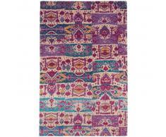 benuta Alfombra de tejido plano Stay Morado 290x400 cm - Alfombra lisa para cocina, corredor y pasillo - fácil de limpiar