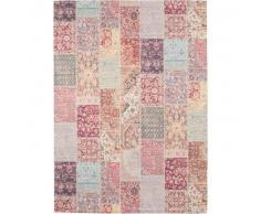 benuta Alfombra de tejido plano Jelle Morado 160x230 cm - Alfombra lisa para cocina, corredor y pasillo - fácil de limpiar
