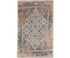 benuta Alfombra de tejido plano Tosca Beige 75x165 cm - Alfombra lisa para cocina, corredor y pasillo - fácil de limpiar