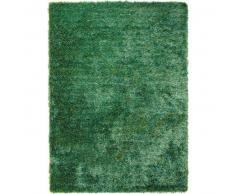 Esprit Alfombra pelo largo New Glamour Verde 70x140 cm