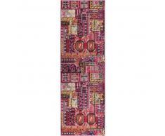benuta Alfombra pelo corto de pasillo Casa Multicolor 70x240 cm - Alfombra diseño moderno para salon