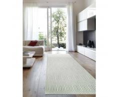 benuta Alfombra pelo corto de Pasillo Sloan Turquesa 80x300 cm - Alfombra diseño moderno para salon