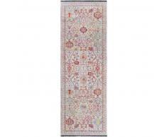 benuta Alfombra pelo corto de pasillo Ian Multicolor 80x240 cm - Alfombra diseño moderno para salon