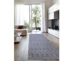 Alfombra pelo corto de Pasillo Sloan Azul 80x300 cm - Alfombra diseño moderno para salon
