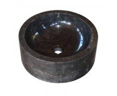 Lavabo de piedra Mármol JAIPUR redondo Ø40 negro