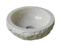 Lavabo de piedra Mármol BALIA redondo Ø45 crema