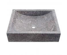 Lavabo de piedra Mármol KUDRA rectangular gris