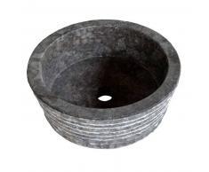 Lavabo de piedra Mármol SIRSA redondo Ø40 negro