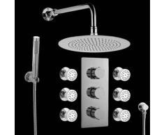 hudson reed Sistema de ducha con Mezclador Termostático con Alcachofa Extraplana
