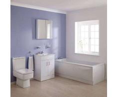 hudson reed Conjunto de Baño Completo con Mueble de Lavabo, Bañera y WC