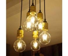 Lámpara de araña estilo estudio grande 6 luces - Sekka