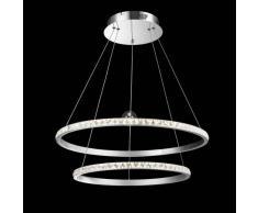 Lámpara de techo LED - cristal 2 anillos - Duccio