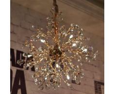 Lámpara colgante dorada de cristal - Eve