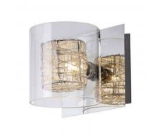 Aplique de pared - cromo y vidrio - Nid