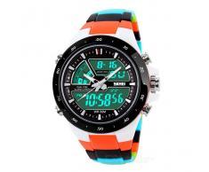Reloj digital Resistente al agua - Negro + Naranja