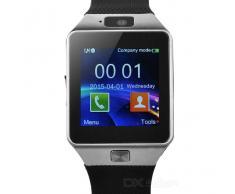 DZ09 Bluetooth Smart reloj w / SIM ranura? podometro - Negro + Gris