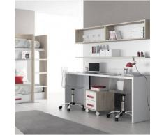 DESKandSIT Mesa mesas de estudio de trabajo doble mju2023008