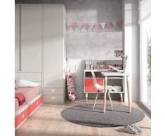 DESKandSIT Mesa mesas de estudio de diseño completa con mueble y buc a la izquierda mju2023011