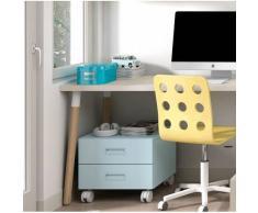 Habitatdesign Cajonera de colores con ruedas para mesas de estudio de trabajo mju2023006-de-