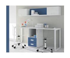 DESKandSIT Mesa mesas de estudio de trabajo doble con buc mju2023004