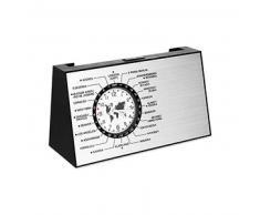 Reloj de sobremesa giratorio SPINNING plata mate 287 44 46