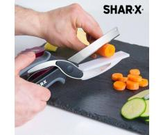 SHAR-X CUCHILLO-TIJERA CON MINI TABLA DE CORTAR INTEGRADA BLADE & BOARD