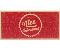 Piccantino Nice Valentine! - Vale de Regalo de Papel Reciclado Ecológico - Nice Valentine! - Vale de Regalo