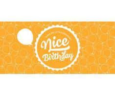 """Piccantino Nice Birthday - Vale de Regalo de Papel Reciclado Ecológico - """"Nice Birthday"""" Vale"""