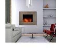 Climatime Chimenea Eléctrica Con Calefactor Y Efecto Llama Acabado Inox Cpi