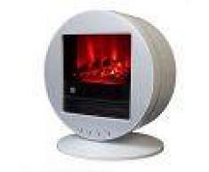 Climatime Chimenea Eléctrica Con Calefactor, Efecto Llama Oscilante Color Blanco Fbb