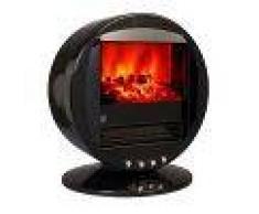Climatime Chimenea Eléctrica Con Calefactor, Efecto Llama Oscilante Color Negro Fbn