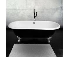 Entorno Baño Bañera Clásica hierro fundido 170cm PLYMOUTH negra con patas cromadas