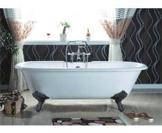 Entorno Baño Bañera Clásica hierro fundido 170cm PLYMOUTH blanca con patas negras