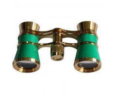 Levenhuk Prismáticos para ópera Broadway 3x25 verde con cadena y luz LED