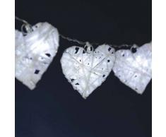eminza Guirnalda luminosa Corazón fugaz Blanco frío 10 LED